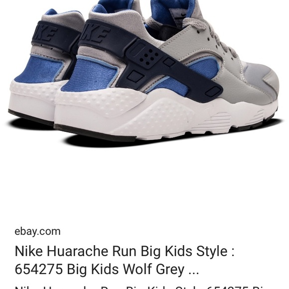 Great condition Nike blue and wolf gray Huaraches